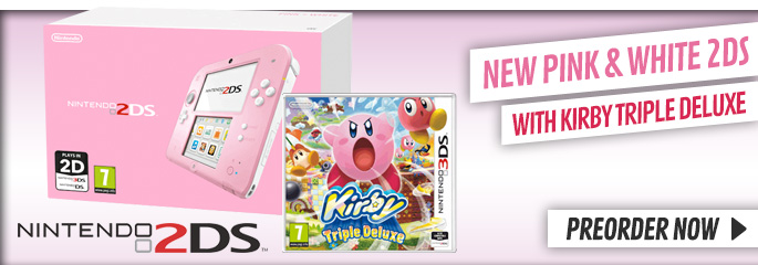 2DS with Kirby Triple Deluxe - Now at GAME.co.uk!