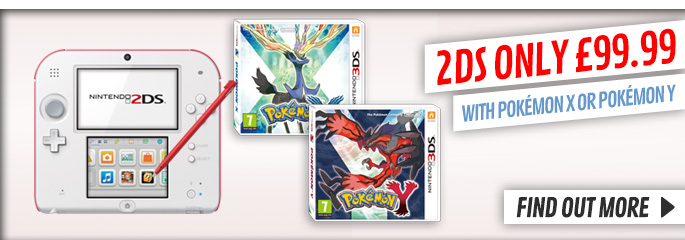2DS and Pokemon X or Y for Nintendo 3DS - Buy Now at GAME.co.uk!