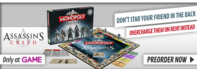 Assassins Creed Monopoly - Preorder Now at GAME.co.uk!