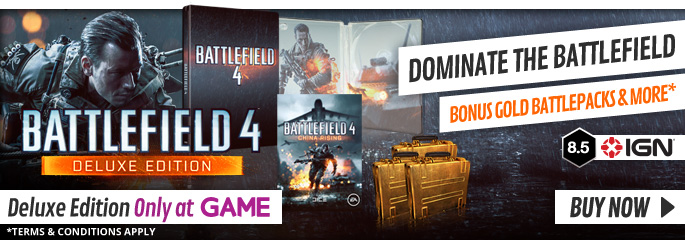 Battlefield 4 GAME Exclusive Deluxe Edition for PC - Preorder Now at GAME.co.uk!