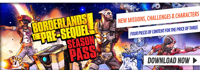 Borderlands the Pre-Sequel Season Pass for Playstation Network - Downloads at GAME.co.uk!