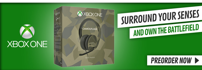 Xbox One Special Edition Camouflage Stereo Headset - Preorder Now at GAME.co.uk!