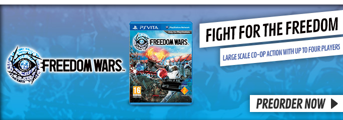 Freedom Wars for PlayStation Vita - Preorder Now at GAME.co.uk!