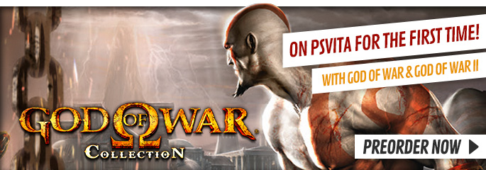 God of War Collection for PlayStation Vita - Preorder Now at GAME.co.uk!