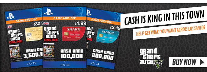 GTA V Shark Cards for PlayStation Network - Downloads at GAME.co.uk!