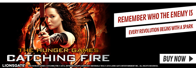 Hunger Games: Catching Fire - On Blu-Ray and DVD Now at GAME.co.uk!
