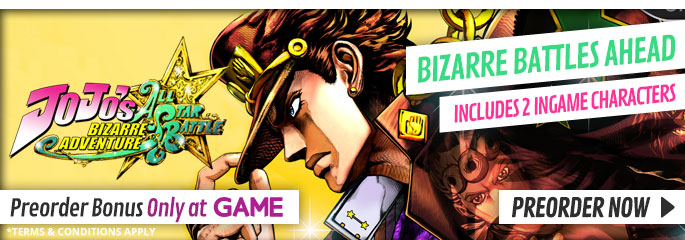 JoJo's Bizarre Adventure - Preorder now at GAME.co.uk