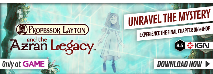 Professor Layton and the Azran Legacy - Download Now at GAME.co.uk!