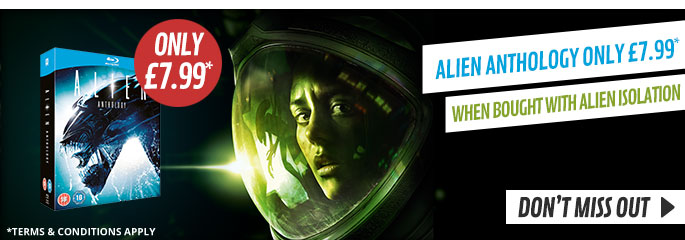 Alien Anthology for only £7.99 on blu ray when brought with Alien Isolation at GAME.co.uk!