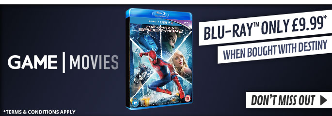 The Amazing Spider-Man 2 only £9.99 when brought with Destiny - On Blu-Ray and DVD Now at GAME.co.uk!