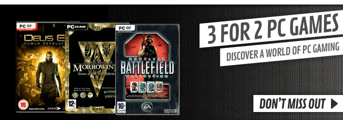 3 for 2 PC Games - Buy Now at GAME.co.uk!