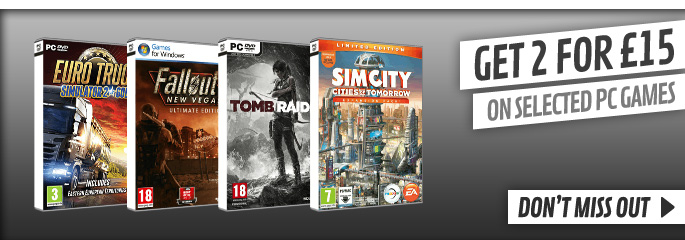 2 PC Games for £15 - at GAME.co.uk