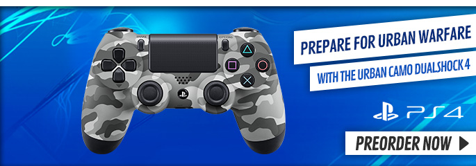 PlayStation 4 Urban Camo Controller - Preorder Now at GAME.co.uk!
