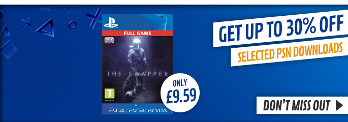 30% off Selected PlayStation Network Downloads - at GAME.co.uk