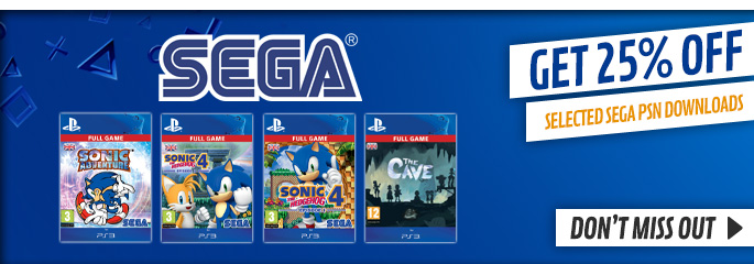 SEGA PSN Downloads for PlayStation Network - Downloads at GAME.co.uk!
