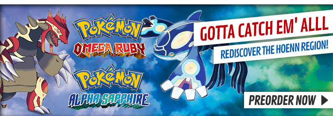 Pokemon Alpha Ruby and Pokemon Omega Sapphire for Nintendo 3DS - Preorder Now at GAME.co.uk!