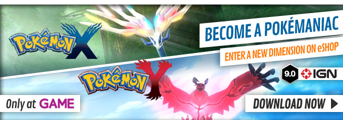 Pokemon X/Y for Nintendo 3DS - Download Now at GAME.co.uk!