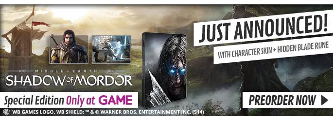 Shadows of Mordor - Exclusive Edition for Xbox 360 - Only at GAME, Preorder Now at GAME.co.uk!