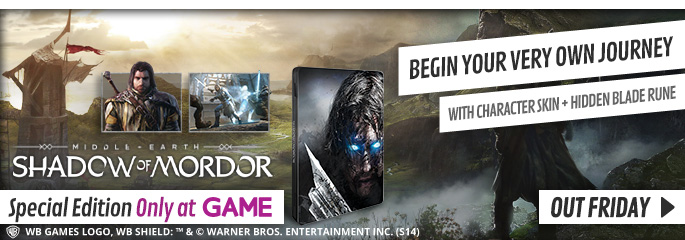 Middle Earth: Shadow of Mordor for Xbox 360 - Preorder Now at GAME.co.uk!