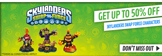 Up to 50% off Skylanders SWAP Force Characters for Nintendo Wii U - Buy Now at GAME.co.uk!