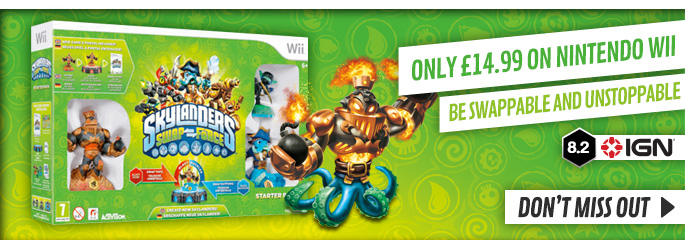 Skylanders SWAP Force Starter Pack only £14.99 for Nintendo Wii - Buy Now at GAME.co.uk!
