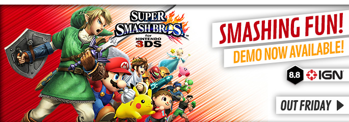 Super Smash Bros for Nintendo 3DS - Preorder Now at GAME.co.uk!