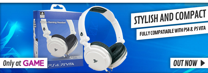 White 4Gamers PlayStation 4 Headset - Buy Now at GAME.co.uk!