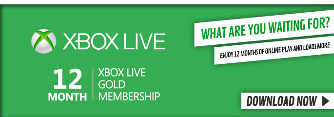 Xbox Live 12 Month Subscription for Xbox LIVE - Downloads at GAME.co.uk!