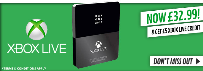 Free £5 Xbox Live Credit when you purcase Xbox Live 12 Month Day One Edition Gold Membership - at GAME.co.uk