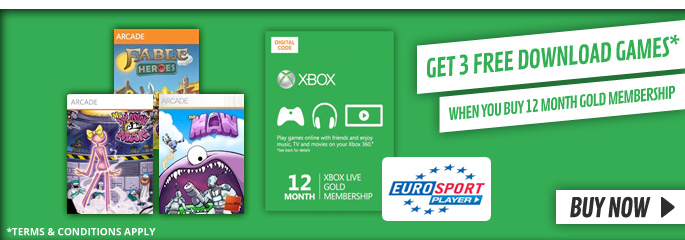 3 Free Games with Membership for Xbox LIVE - Downloads at GAME.co.uk!
