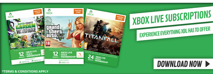 12 + 1 Month Subs for Xbox LIVE - Downloads at GAME.co.uk!