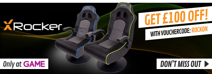 Get £100 Off Selected X-Rocker Gaming Chairs with Voucher Code: ROCK ON - Buy Now at GAME.co.uk!