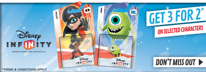 Disney Infinity 3 for 2 on for Nintendo WiiU - Buy Now at GAME.co.uk!
