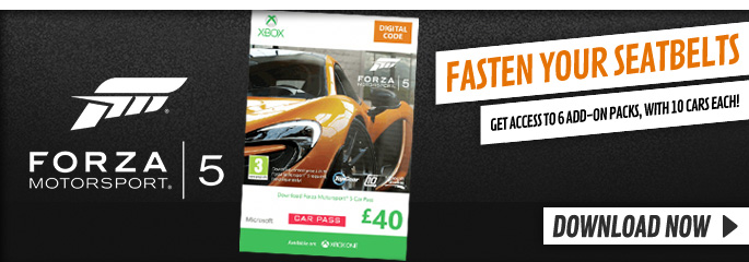 Forza 5 Motorsport Car Pass/VIP Pass for Xbox LIVE - Downloads at GAME.co.uk!