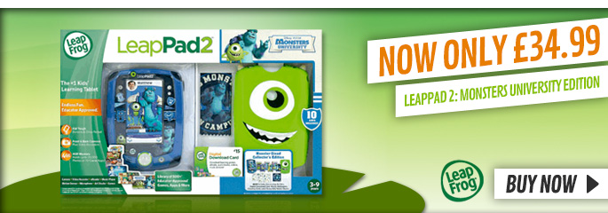 Leap Pad 2 Monsters University - Buy Now at GAME.co.uk!