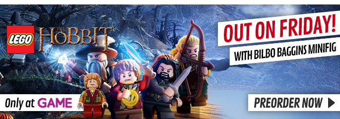 LEGO Hobbit Exclusive for Xbox 360 - Preorder Now at GAME.co.uk!
