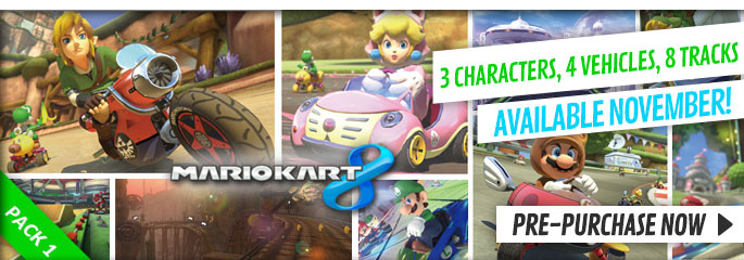 Mario Kart 8 downloadable Content Pack 1 for Nintendo eShop - xx Now at GAME.co.uk!