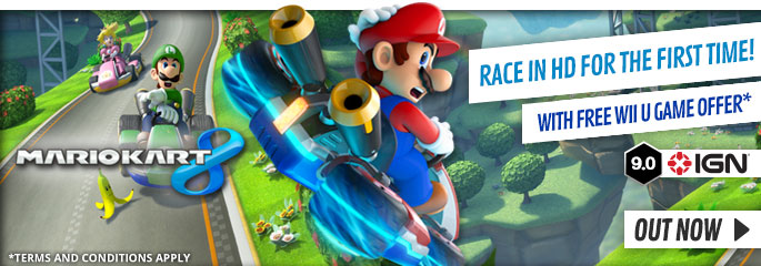 Mario Kart 8 for Nintendo WiiU - Preorder Now at GAME.co.uk!
