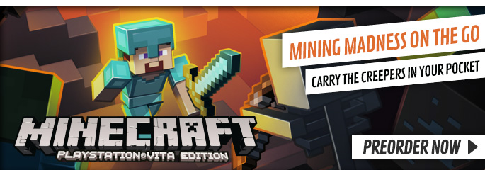 Minecraft for PlayStation Vita - Preorder Now at GAME.co.uk!