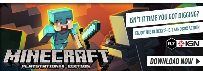 Minecraft for PS4 on PlayStation Network - Downloads at GAME.co.uk!