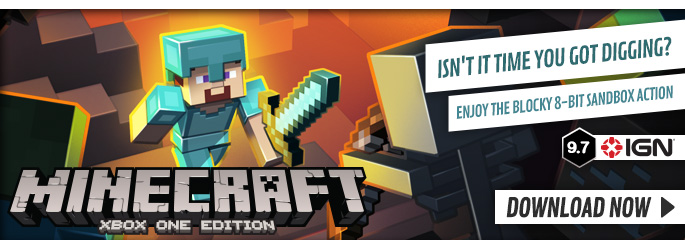 Minecraft Xbox One for Xbox LIVE - Downloads at GAME.co.uk!