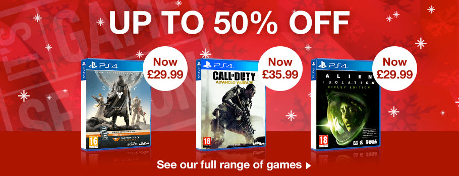 Up to 50% Off 4 Games - Buy Now at GAME.co.uk!
