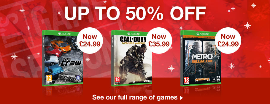 Up to 50% Off Xbox One Games - Buy Now at GAME.co.uk!