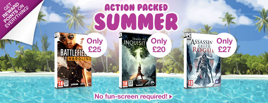 Action Packed Summer Deals for PC - Buy Now at GAME.co.uk!