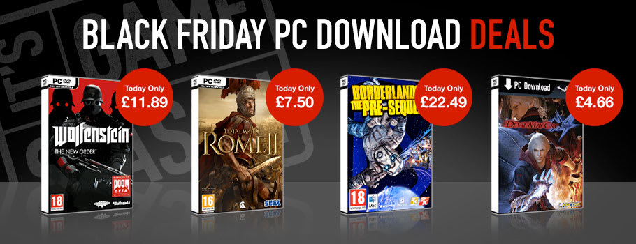 Black Friday Deals for PC Download - Download Now at GAME.co.uk!