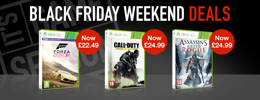 Black Friday Xbox 360 games- Buy Now at GAME.co.uk!