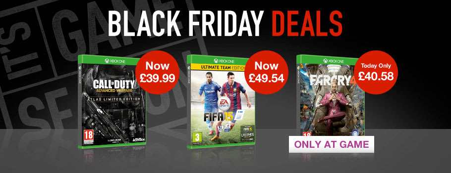 Black Friday  Xbox One Games - Buy Now at GAME.co.uk!