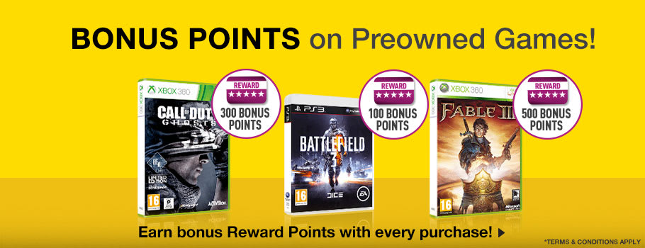Reward Bonus Preowned  Games  - Buy Now at GAME.co.uk!