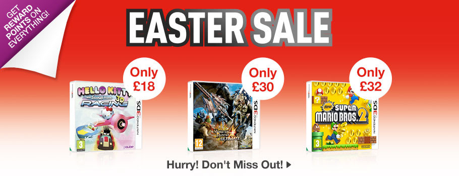 SALE for Nintendo 3DS - Buy Now at GAME.co.uk!