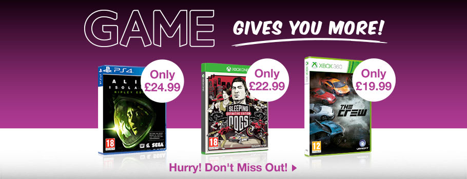 GAME Gives you More - Buy Now at GAME.co.uk!